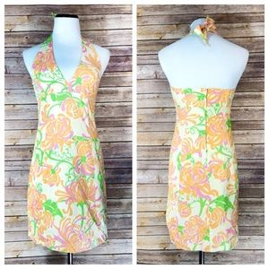 Lilly Pulitzer What A Wonderful World Halter Dress